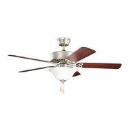 Kichler 330103NI Renew Select ES Brushed Nickel Finish 50 Inch Ceiling Fan