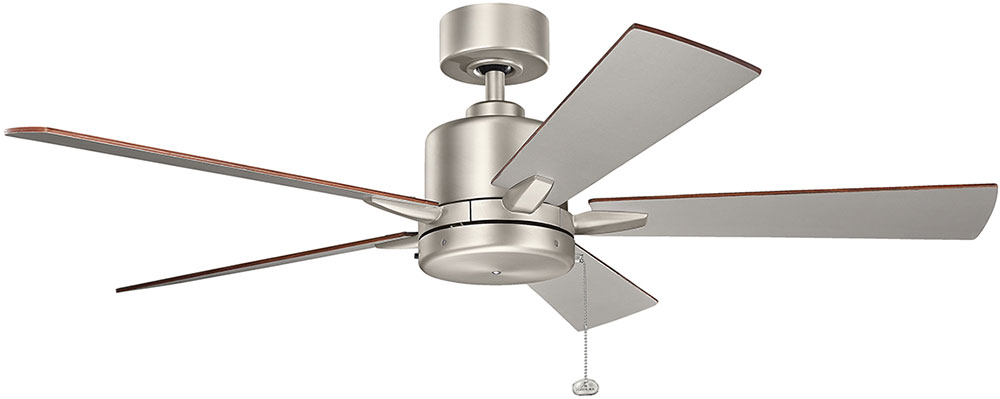 Kichler 330242ni bowen brushed nickel ceiling fan kic 330242ni kichler 330242ni bowen brushed nickel ceiling fan loading zoom aloadofball Choice Image