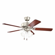 Kichler 339240NI Renew Premier Brushed Nickel Finish 50 Inch Ceiling Fan