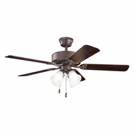 Kichler 339240TZ Renew Premier Tannery Bronze Finish 50 Inch Home Ceiling Fan