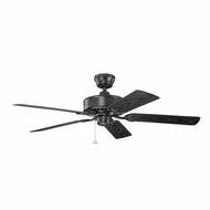 Kichler 339515SBK Renew Patio Satin Black Finish Indoor / Outdoor 52 Inch Ceiling Fan