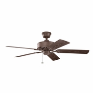 Kichler 339515TZP Renew Patio Tannery Bronze Powder Coat Finish Indoor / Outdoor 52 Inch Home Ceiling Fan