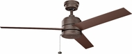 Kichler 339629WCP Arkwet Modern Weathered Copper Powder Coat Exterior 52 Ceiling Fan