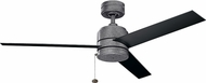 Kichler 339629WSP Arkwet Contemporary Weathered Steel Powder Coat Outdoor 52 Home Ceiling Fan