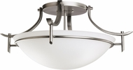 Kichler 3606AP Olympia Antique Pewter Modern 3-light Semi Flush