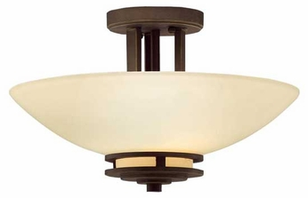 Kichler 3674OZ Hendrik Semi-Flush Ceiling Light in Olde Bronze