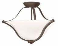 Kichler 3681OZ Langford 2 Lamp Olde Bronze Semi Flush Mount Lighting