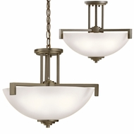 Kichler 3797OZS Eileen Contemporary Olde Bronze Drop Lighting / Ceiling Light Fixture
