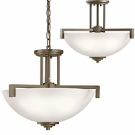 Kichler 3797OZSL16 Eileen Modern Olde Bronze LED Drop Ceiling Lighting / Ceiling Lighting Fixture