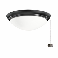 Kichler 380020SBK Satin Black Finish Indoor / Outdoor Fan Light Fixture
