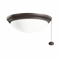 Kichler 380020SNB Satin Natural Bronze Finish Indoor / Outdoor Ceiling Fan Light Fixture