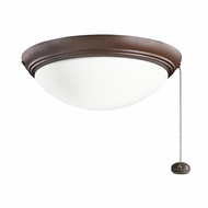 Kichler 380020TZP Tannery Bronze Powder Coat Finish Indoor / Outdoor Fan Light Fixture