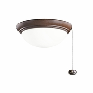 Kichler 380120TZP Tannery Bronze Powder Coat Finish Indoor / Outdoor Fan Light Fixture