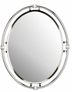 Kichler 41067-CH Collective View 24 inches wide Oval Beveled Mirror in Chrome