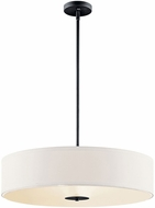 Kichler 42122BK Black 24  Drum Hanging Lamp