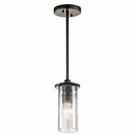 Kichler 42125OZ Kayde Vintage Olde Bronze Finish 4.5  Wide Mini Hanging Pendant Light