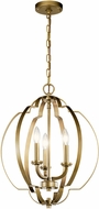 Kichler 42140NBR Voleta Natural Brass 16.5  Foyer Lighting Fixture