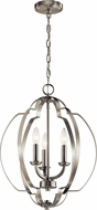 Kichler 42140NI Voleta Contemporary Brushed Nickel Foyer Light Fixture