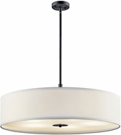 Kichler 42196BK Black 30  Drum Pendant Lighting Fixture