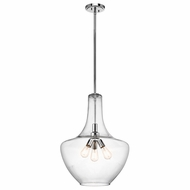 Kichler 42198CH Everly Chrome 20  Pendant Light Fixture