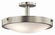 Kichler 42245NI Lytham Convertible Semi Flush mount Brushed Nickel 17 Inch Diameter Ceiling Light