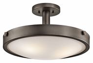 Kichler 42245OZ Lytham Convertible Old Bronze Finish 17 Inch Diameter Semi Flush Overhead Lighting