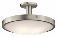 Kichler 42246NI Lytham Brushed Nickel Transitional 20 Inch Diameter Semi Flush Mount Lighting