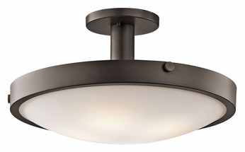 Kichler 42246OZ Lytham 20 Inch Diameter Transitional Semi Flush Olde Bronze Ceiling Light Fixture