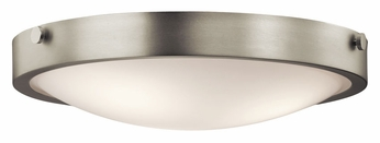 Kichler 42275NI Lytham Brushed Nickel Finish 17 Inch Diameter Small Flush Mount Ceiling Light