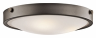 Kichler 42275OZ Lytham 17 Inch Diameter Olde Bronze Flush Mount Lighting - Small