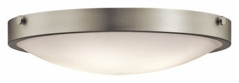 Kichler 42276NI Lytham Large Transitional 20 Inch Diameter Flush Lighting Fixture - Brushed Nickel