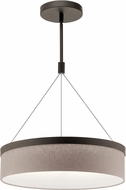 Kichler 42297OZLED Mercel Contemporary Olde Bronze LED 18  Drum Pendant Lighting