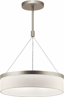 Kichler 42297SNLED Mercel Modern Satin Nickel LED 18  Drum Pendant Light