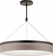 Kichler 42298OZLED Mercel Contemporary Olde Bronze LED 26  Drum Lighting Pendant