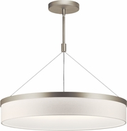Kichler 42298SNLED Mercel Modern Satin Nickel LED 26  Drum Pendant Lamp