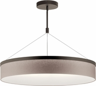 Kichler 42299OZLED Mercel Contemporary Olde Bronze LED 32  Drum Hanging Lamp