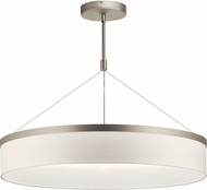 Kichler 42299SNLED Mercel Modern Satin Nickel LED 32  Drum Hanging Light