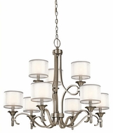 Kichler 42382AP Lacey Contemporary Antique Pewter Chandelier Light