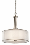 Kichler 42385AP Lacey Modern Antique Pewter Drum Pendant Lighting Fixture