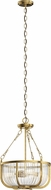 Kichler 42389NBR Roux Contemporary Natural Brass Foyer Lighting