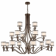 Kichler 42396MIZ Lacey Mission Bronze Chandelier Lamp