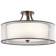 Kichler 42399MIZ Lacey Mission Bronze Flush Lighting