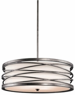 Kichler 42465WMZ Krasi Contemporary Warm Bronze Drum Hanging Pendant Lighting