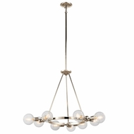 Kichler 42474PN Garim Vintage Polished Nickel Finish 33.5  Wide Chandelier Light