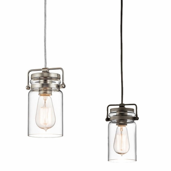 Kichler 42878 Brinley Retro 7.75  Tall Mini Hanging Pendant Light