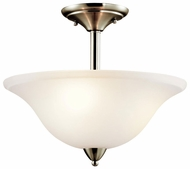 Kichler 42879NI Nicholson Semi-flush Nickel Ceiling Lighting