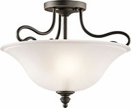 Kichler 42900OZL16 Tanglewood Olde Bronze LED Flush Mount Lighting
