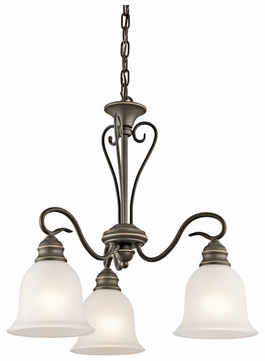 Kichler 42905OZ Tanglewood Olde Bronze 3-lamp Mini Chandelier Light