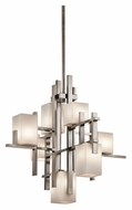 Kichler 42940CLP City Lights 7 Lamp Contemporary 25 Inch Diameter Small Hanging Chandelier Light