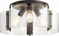 Kichler 42955OZ Thoreau Modern Olde Bronze Ceiling Light Fixture